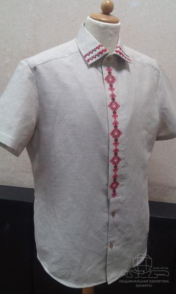 Мужская рубашка в этно-деловом стиле